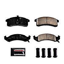Z23-505 Front Z23 Daily Carbon-Fiber Ceramic Brake Pads with Stainless-Steel Hardware Kit