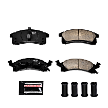 Power Stop® Z23-506 Front Z23 Daily Carbon-Fiber Ceramic Brake Pads with Stainless-Steel Hardware Kit