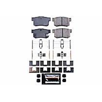 Rear Z23 Daily Carbon-Fiber Ceramic Brake Pads with Stainless-Steel Hardware Kit