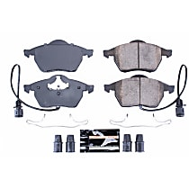 Front Z23 Daily Carbon-Fiber Ceramic Brake Pads with Stainless-Steel Hardware Kit