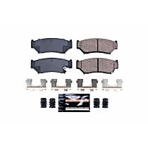 Z23-556 Front Z23 Daily Carbon-Fiber Ceramic Brake Pads with Stainless-Steel Hardware Kit