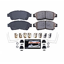 Z23-562 Front Z23 Daily Carbon-Fiber Ceramic Brake Pads with Stainless-Steel Hardware Kit