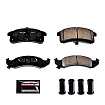 Power Stop® Z23-623 Front Z23 Daily Carbon-Fiber Ceramic Brake Pads with Stainless-Steel Hardware Kit