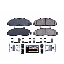 Power Stop® Z23-679 Front Z23 Daily Carbon-Fiber Ceramic Brake Pads with Stainless-Steel Hardware Kit