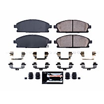 Z23-691 Front Z23 Daily Carbon-Fiber Ceramic Brake Pads with Stainless-Steel Hardware Kit