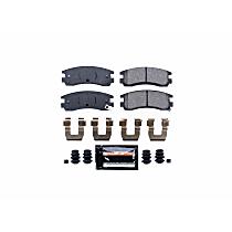 Z23-698 Rear Z23 Daily Carbon-Fiber Ceramic Brake Pads with Stainless-Steel Hardware Kit
