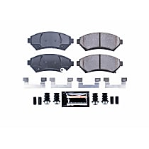 Z23-699 Front Z23 Daily Carbon-Fiber Ceramic Brake Pads with Stainless-Steel Hardware Kit