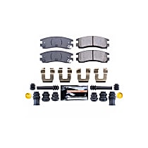 Z23-714 Rear Z23 Daily Carbon-Fiber Ceramic Brake Pads with Stainless-Steel Hardware Kit