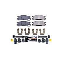 Power Stop® Z23-714 Rear Z23 Daily Carbon-Fiber Ceramic Brake Pads with Stainless-Steel Hardware Kit
