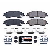 Power Stop® Z23-729 Rear Z23 Daily Carbon-Fiber Ceramic Brake Pads with Stainless-Steel Hardware Kit