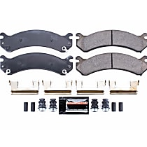 Power Stop® Z23-784 Front Z23 Daily Carbon-Fiber Ceramic Brake Pads with Stainless-Steel Hardware Kit