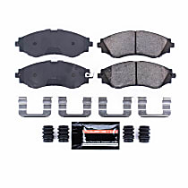 Power Stop® Z23-797 Front Z23 Daily Carbon-Fiber Ceramic Brake Pads with Stainless-Steel Hardware Kit