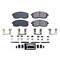 Power Stop® Z23-815 Front Z23 Daily Carbon-Fiber Ceramic Brake Pads with Stainless-Steel Hardware Kit