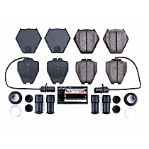 Z23-839 Front Z23 Daily Carbon-Fiber Ceramic Brake Pads with Stainless-Steel Hardware Kit