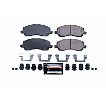 Power Stop® Z23-866 Front Z23 Daily Carbon-Fiber Ceramic Brake Pads with Stainless-Steel Hardware Kit