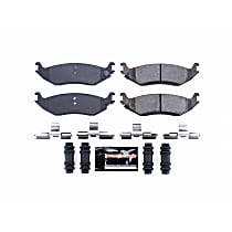 Power Stop® Z23-898 Rear Z23 Daily Carbon-Fiber Ceramic Brake Pads with Stainless-Steel Hardware Kit