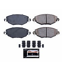Z23-910 Front Z23 Daily Carbon-Fiber Ceramic Brake Pads with Stainless-Steel Hardware Kit