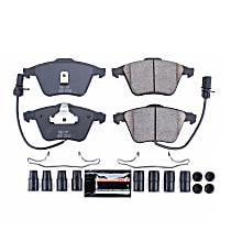 Z23-915 Front Z23 Daily Carbon-Fiber Ceramic Brake Pads with Stainless-Steel Hardware Kit