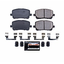 Power Stop® Z23-923 Front Z23 Daily Carbon-Fiber Ceramic Brake Pads with Stainless-Steel Hardware Kit