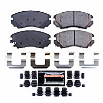 Power Stop® Z23-924 Front Z23 Daily Carbon-Fiber Ceramic Brake Pads with Stainless-Steel Hardware Kit