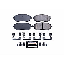 Power Stop® Z23-929 Front Z23 Daily Carbon-Fiber Ceramic Brake Pads with Stainless-Steel Hardware Kit
