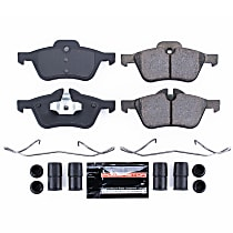Power Stop® Z23-939 Front Z23 Daily Carbon-Fiber Ceramic Brake Pads with Stainless-Steel Hardware Kit