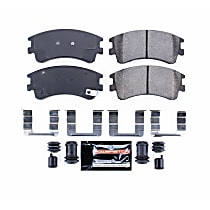Power Stop® Z23-957 Front Z23 Daily Carbon-Fiber Ceramic Brake Pads with Stainless-Steel Hardware Kit
