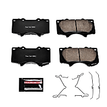 Z23-976 Front Z23 Daily Carbon-Fiber Ceramic Brake Pads with Stainless-Steel Hardware Kit