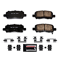 Z23-999 Rear Z23 Daily Carbon-Fiber Ceramic Brake Pads with Stainless-Steel Hardware Kit