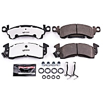 Power Stop® Z26-052 Front OR Rear Z26 Muscle Carbon-Fiber Ceramic Brake Pads with Stainless-Steel Hardware Kit