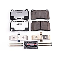 Powerstop Front Brake Pad Set - Z26 Street Warrior Carbon-Fiber Ceramic Performance 2-Wheel Set, Carbon Fiber Ceramic