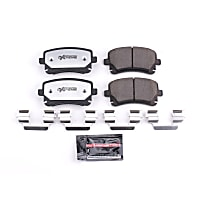 Z26-1018 Rear Z26 Muscle Carbon-Fiber Ceramic Brake Pads with Stainless-Steel Hardware Kit