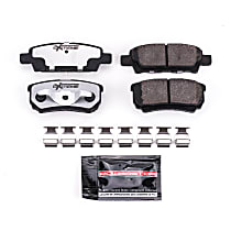 Power Stop® Z26-1037 Rear Z26 Muscle Carbon-Fiber Ceramic Brake Pads with Stainless-Steel Hardware Kit