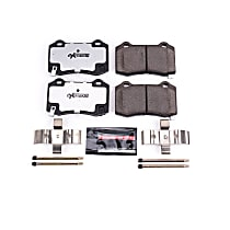 Z26-1053 Rear Z26 Muscle Carbon-Fiber Ceramic Brake Pads with Stainless-Steel Hardware Kit
