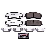 Powerstop Front Brake Pad Set - Z26 Street Warrior Carbon-Fiber Ceramic Performance 2-Wheel Set, Carbon Fiber Ceramic