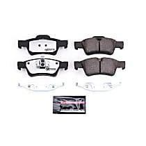 Powerstop Rear Brake Pad Set - Z26 Street Warrior Carbon-Fiber Ceramic Performance 2-Wheel Set, Carbon Fiber Ceramic