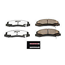 Z26-1159 Front Z26 Muscle Carbon-Fiber Ceramic Brake Pads with Stainless-Steel Hardware Kit