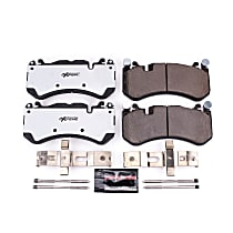 Power Stop® Z26-1291 Front Z26 Muscle Carbon-Fiber Ceramic Brake Pads with Stainless-Steel Hardware Kit