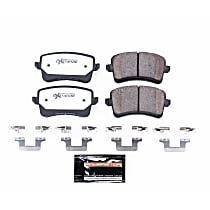 Z26-1386 Rear Z26 Muscle Carbon-Fiber Ceramic Brake Pads with Stainless-Steel Hardware Kit