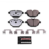 Power Stop® Z26-1473 Rear Z26 Muscle Carbon-Fiber Ceramic Brake Pads with Stainless-Steel Hardware Kit
