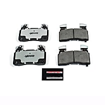 Z26-1474A Front Z26 Muscle Carbon-Fiber Ceramic Brake Pads with Stainless-Steel Hardware Kit