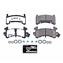 Power Stop® Z26-154 Front OR Rear Z26 Muscle Carbon-Fiber Ceramic Brake Pads with Stainless-Steel Hardware Kit