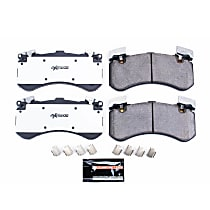 Front Z26 Muscle Carbon-Fiber Ceramic Brake Pads with Stainless-Steel Hardware Kit