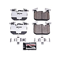 Z26-1609 Front Z26 Muscle Carbon-Fiber Ceramic Brake Pads with Stainless-Steel Hardware Kit