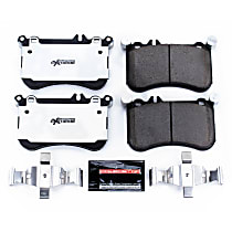 Power Stop® Z26-1634 Front Z26 Muscle Carbon-Fiber Ceramic Brake Pads with Stainless-Steel Hardware Kit