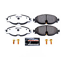 Power Stop® Z26-1760 Front Z26 Muscle Carbon-Fiber Ceramic Brake Pads with Stainless-Steel Hardware Kit