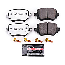 Rear Z26 Muscle Carbon-Fiber Ceramic Brake Pads with Stainless-Steel Hardware Kit