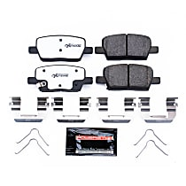 Z26-1914 Rear Z26 Muscle Carbon-Fiber Ceramic Brake Pads with Stainless-Steel Hardware Kit