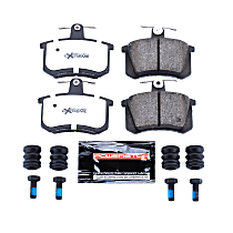 Z26-228 Rear Z26 Muscle Carbon-Fiber Ceramic Brake Pads with Stainless-Steel Hardware Kit