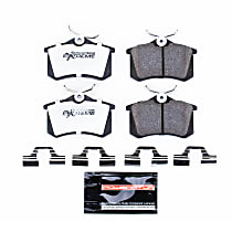 Z26-340 Rear Z26 Muscle Carbon-Fiber Ceramic Brake Pads with Stainless-Steel Hardware Kit